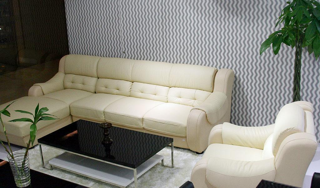 斯可馨S616牛皮沙发
