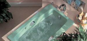 科勒-史帝平铸铁按摩浴缸