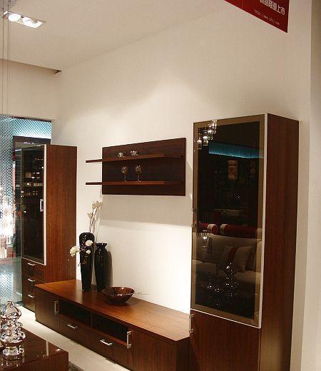 诺捷客厅家具电视柜客厅厅柜38F002花梨木色38F002