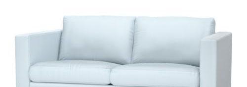 宜家卡斯塔(浅蓝色/浅黄/深灰色)双人沙发