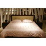 诺捷卧室家具床架7B023-B+7B101-B花梨木色