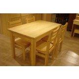 树之语新艾薇尔松木原木色系列CZ-2板面餐桌