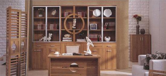 森盛家具书房套装浅胡桃系列27(书柜)P7001