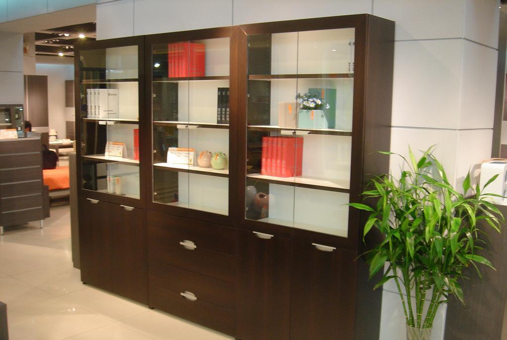 国安佳美组合书柜 黑橡系列32I20I20