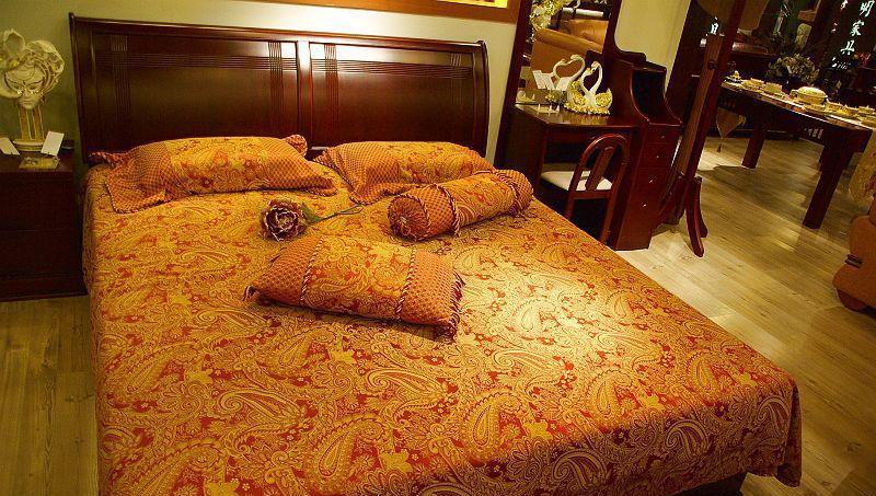 光明卧室家具双人床086-1526-18000086-1526-18000