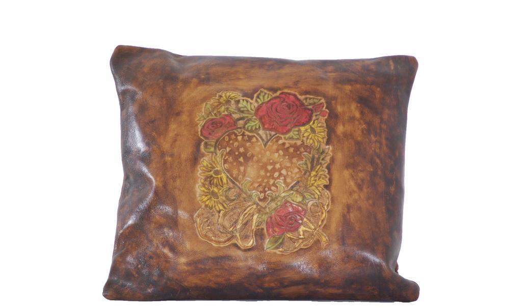 生活觉醒玫瑰花皮靠枕PW08001PW08001
