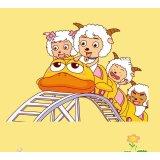 圣象喜羊羊儿童系列PC3003羊羊过山车强化复合地