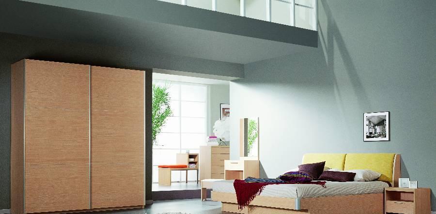 耐特利尔原橡木系列高箱双人床-3-3