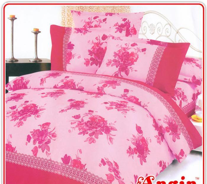 安寝家纺幸福相伴高级斜纹床上用品四件套幸福相伴