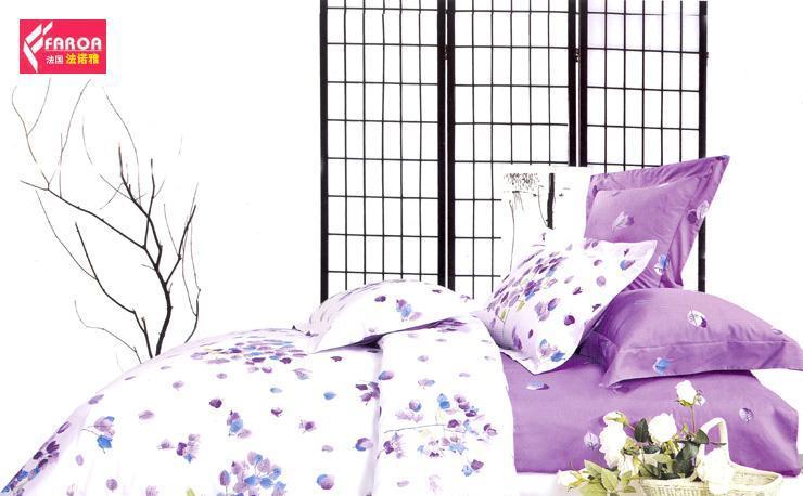 法诺雅床上用品四件套斜纹田园风格活性印花CY01CY01N-2