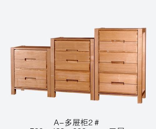 树之语全实木水曲柳原木系列A-多屉柜2#三抽柜A-多屉柜2#三抽柜
