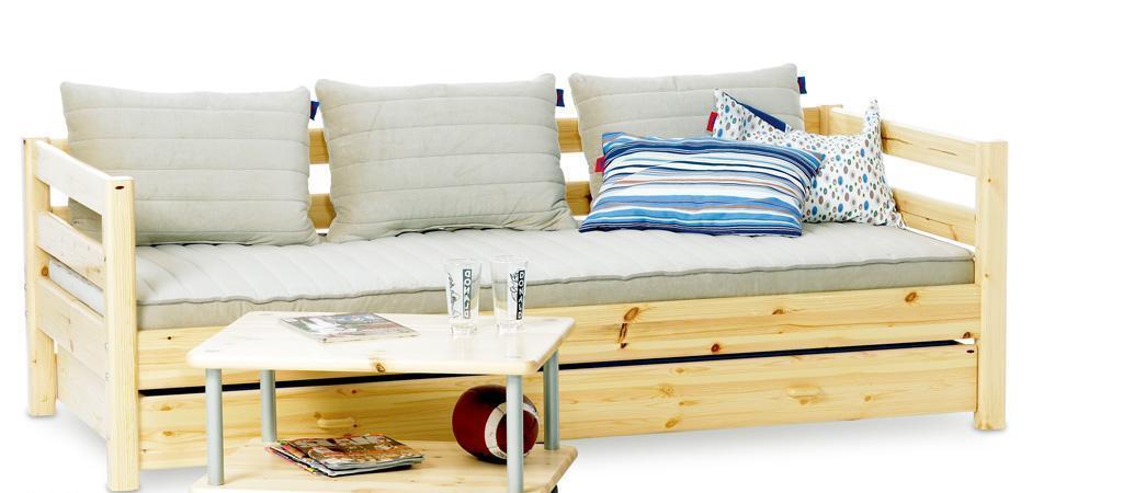 丹麦芙莱莎儿童家具简单床组合NAJA2(本木色)NAJA2
