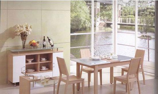 森盛家具餐厅套装白榉系列31(餐柜)M005