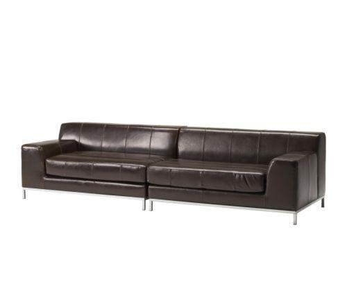 宜家克莱弗(深褐色/黑色)皮沙发