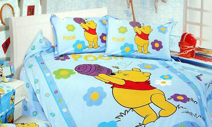艺森家纺床上用品三件套全棉性印染卡通TD-208-TD-208-魔法小熊