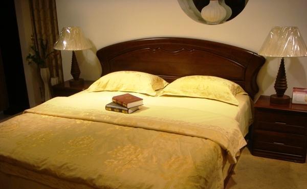 谷氏实木家具-卧室家具-双人床G-5G-5