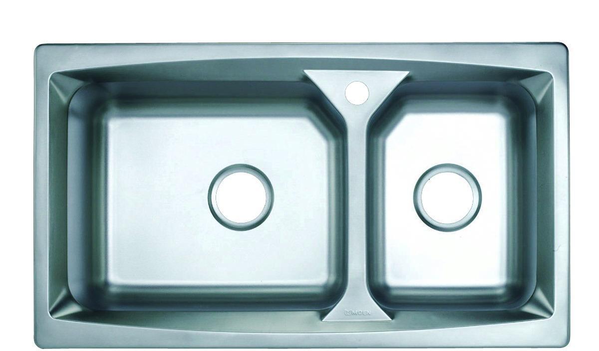 摩恩厨房水槽大小槽不锈钢厨盆2360123601