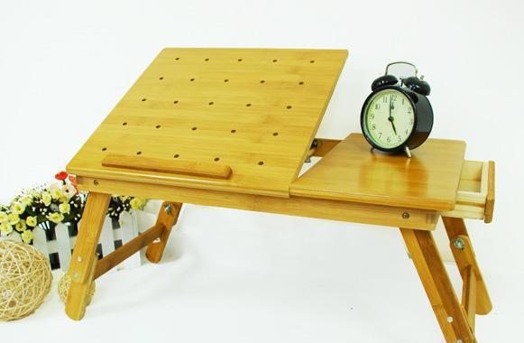 美好家笔记本电脑桌(旗舰版)-三层面板圆角楠竹三层面板圆角楠竹
