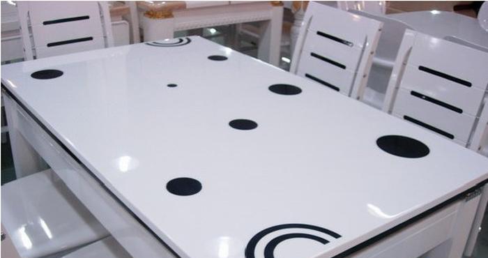 龙森655亮光烤漆餐桌655