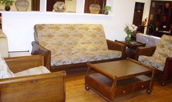 天坛门厅家具-木制两用沙发单+单+三人套