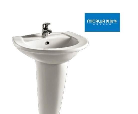 美加华M-3818/9809柱盆(椭圆形设计)3818/9809