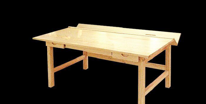 贵人缘松木书桌I04