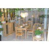 宜伟松木系列YW-UF-45餐桌餐椅(1+4)