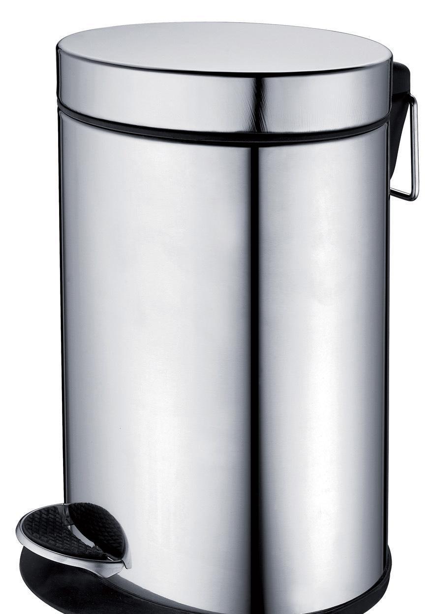 帝朗12升椭圆不锈钢垃圾筒261069-12261069-12