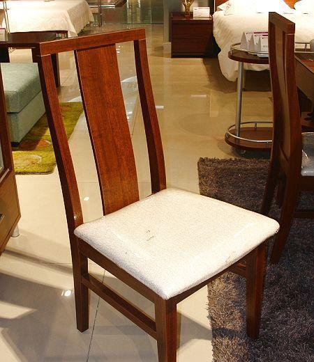 诺捷餐厅家具餐椅8P013花梨木色8P013