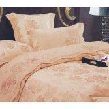 爱可爱登堡贵族富贵牡丹花床上用品色丁提花全棉