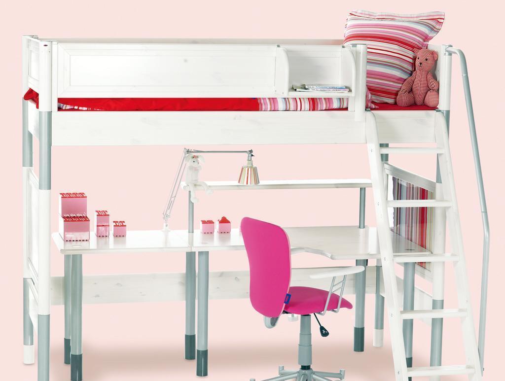 丹麦芙莱莎儿童家具高床组合HILBERT2(白色)HILBERT2