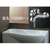法恩莎套餐双裙浴缸F1700SQ+单把挂墙式淋浴龙头