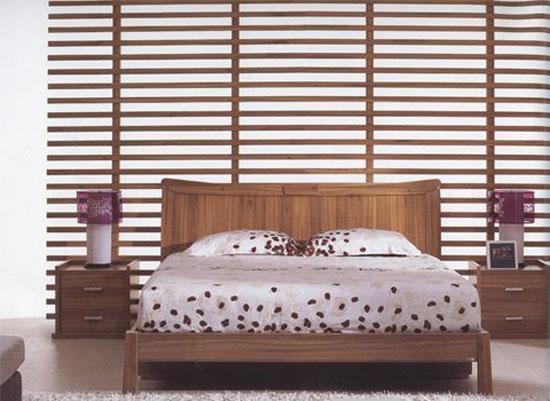 森盛家具卧房套装浅胡桃系列01(床屏)A7007