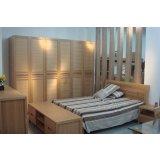 宜伟实木系列YW-SWF-11床+床头柜+电视柜+衣柜