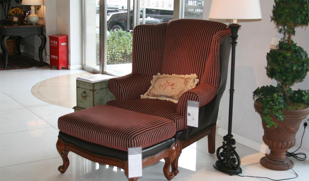 美克美家MK7910-4 2N215 M08皮布单人沙发MK7910-4 2N215 M08