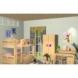 爱心城堡儿童家具双层床J022-BD1