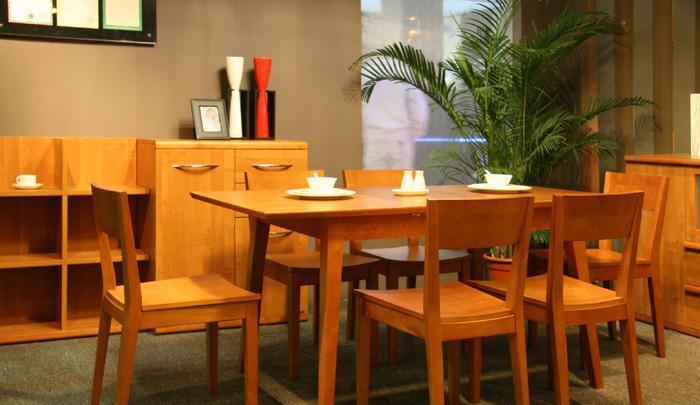 健威家具-加州缘系列-梨木餐桌(长方形)梨木餐桌(长方形)