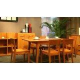 健威家具-加州缘系列-梨木餐桌(长方形)