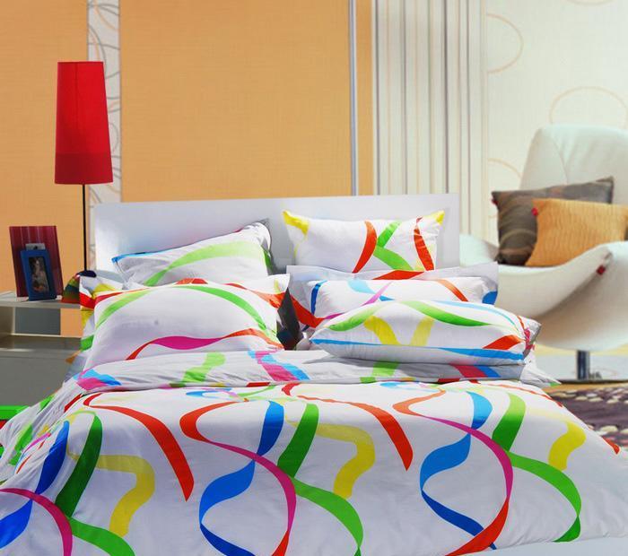 多喜爱欢乐彩带纯棉床品四件套欢乐彩带