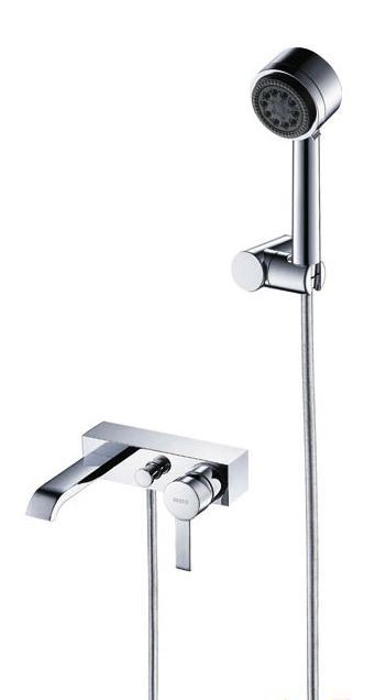 宝卓博卡55415801A挂墙式浴缸龙头及手持花洒