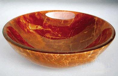 古亚双层玻璃盆S208