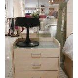 诺捷卧室家具床头柜6C005白枫(三个抽屉)