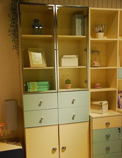 我爱我家儿童家具FH01-B+E+F双门衣柜FH01-B+E+F