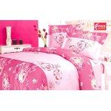 法诺雅床上用品四件套斜纹粉红色印加绣花HY46