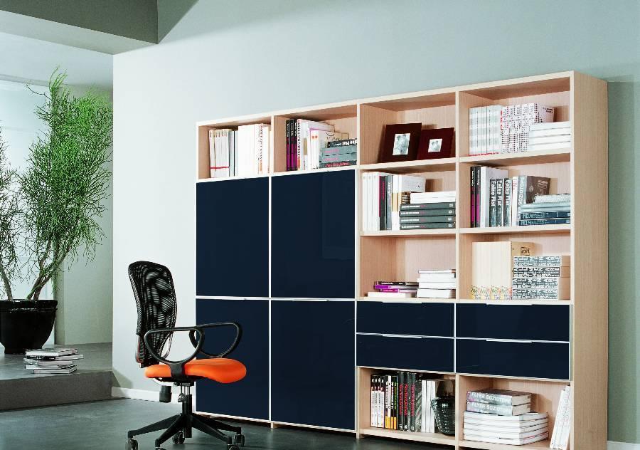 耐特利尔原橡木系列蓝色彩釉书柜蓝色彩釉书柜