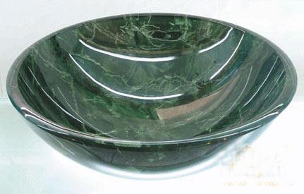 古亚双层玻璃盆S778
