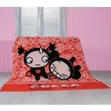 珑棉家纺卡通珊瑚绒毯子床单中国娃娃