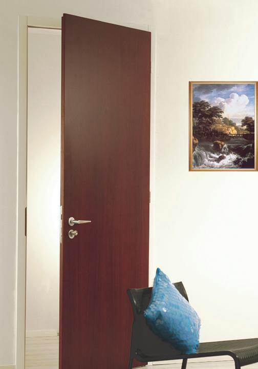 和玺木门莱特系列樱桃门扇+白色哑光门套