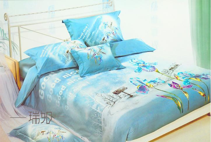 瑞如家纺环保活性印花精梳棉婚庆床上用品HX03四HX03
