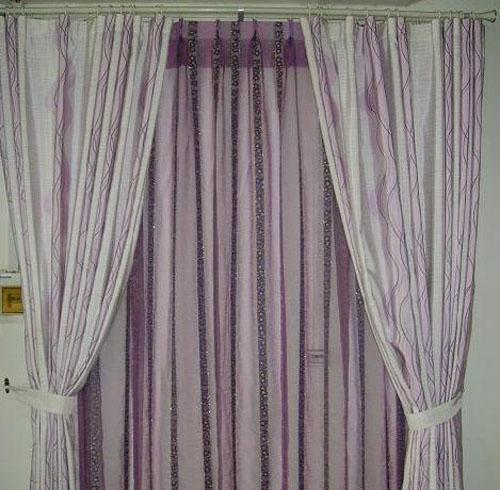 藤川布老虎紫色成品窗帘紫色成品